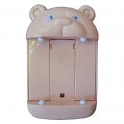 Porta Caixa de Lenço Urso 18 Cm