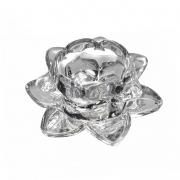 Porta Vela de Cristal Lumen Flower Lux P 12 Cm