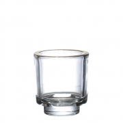 Vasinho Transparente e Dourado Smooth P 8 Cm