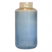Vaso Azul e Laranja Murcia G 30 Cm