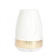 Vaso Branco e Dourado Alforge G 23,5 Cm