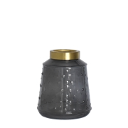 Vaso Cinza Berson 18 Cm