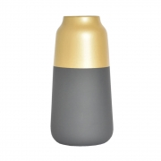 Vaso Cinza Eaton G 25 Cm