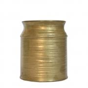 Vaso Dourado Reggio Latte 21 Cm