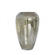 Vaso Prata e Dourado Flipp M 28 Cm