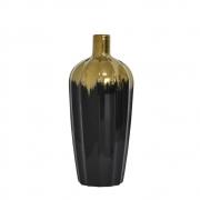 Vaso Preto e Dourado Maggie G 30 Cm