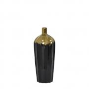Vaso Preto e Dourado Maggie P 25 Cm