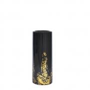 Vaso Preto e Dourado Noir P 18,5 Cm