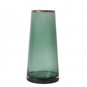 Vaso Verde e Dourado Zimbri G 25 CM
