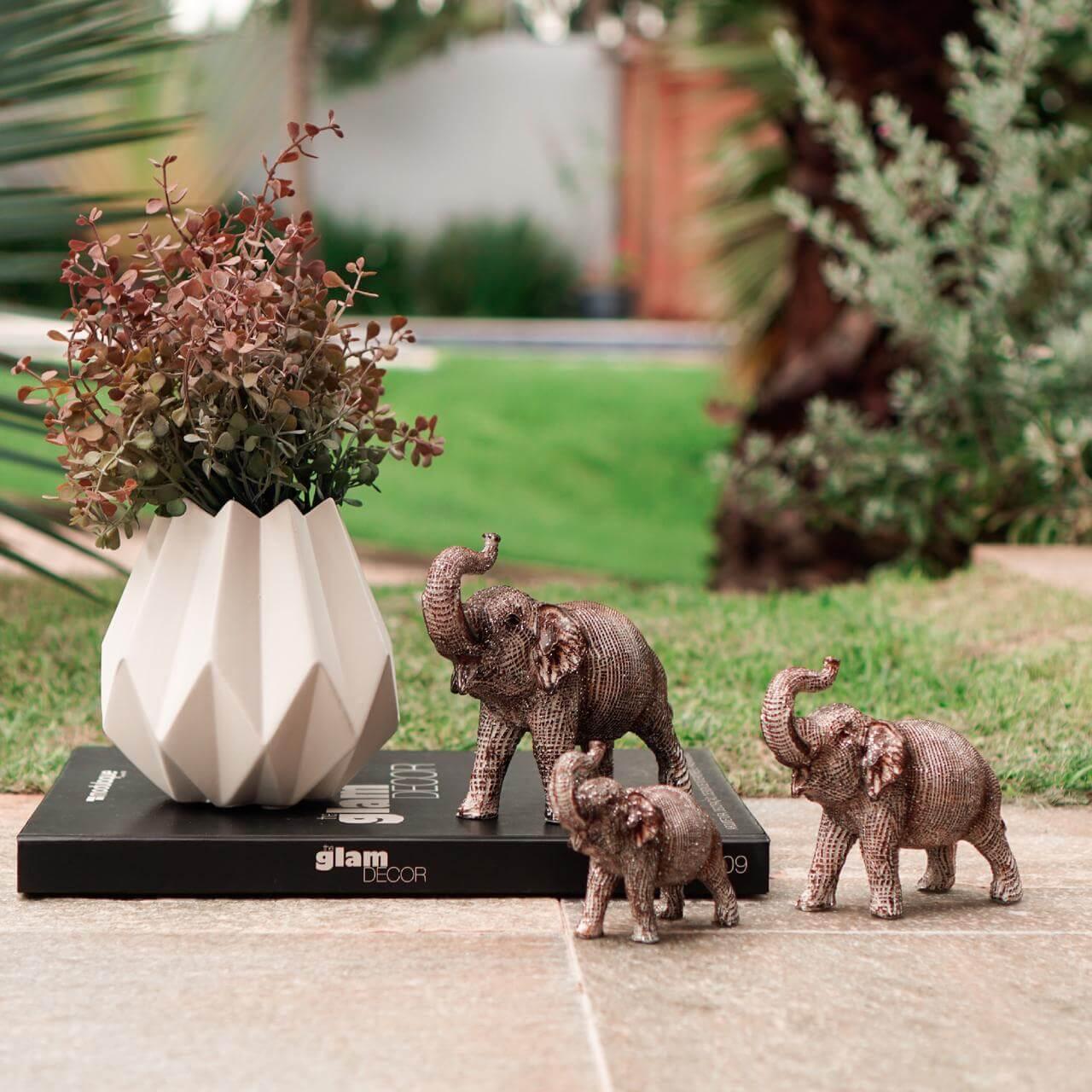 3 Elefantes Marrons Nagar 15 Cm