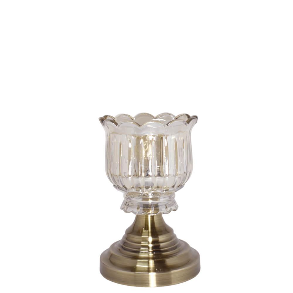 Castiçal Bronze Louise P 21,5 Cm