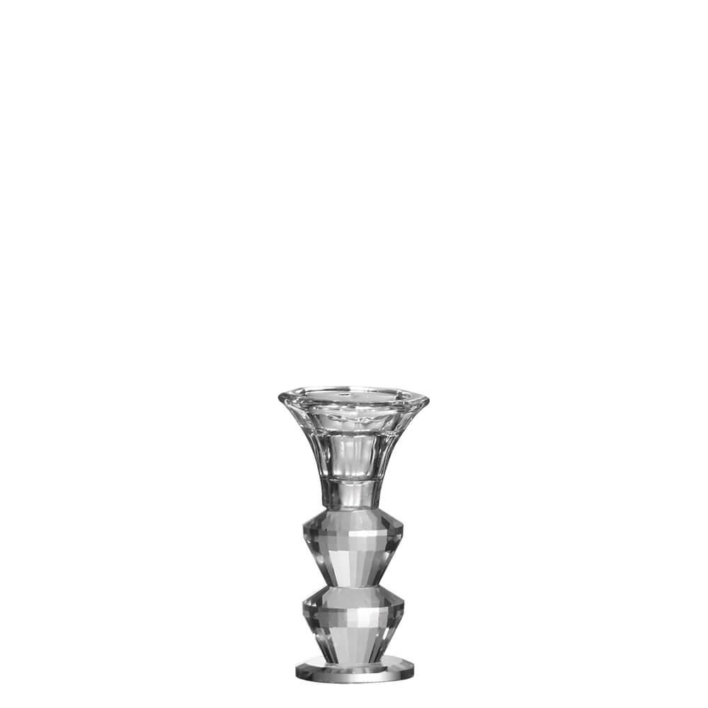 Castiçal de Cristal Lapidado Steghof G 11,5 Cm