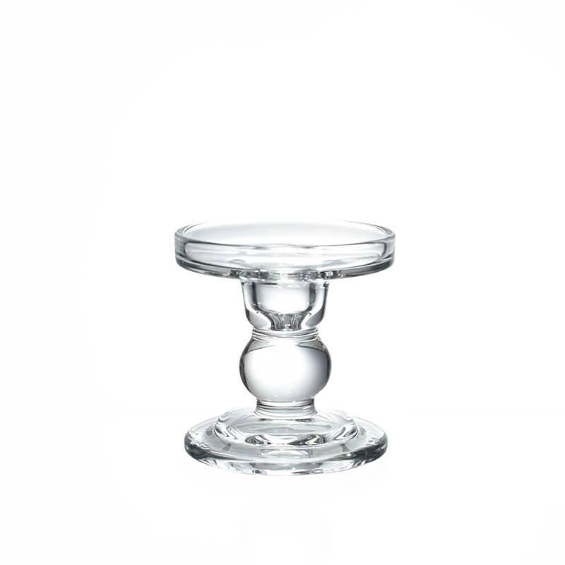 Castiçal de Vidro Ravena P 8,5 Cm