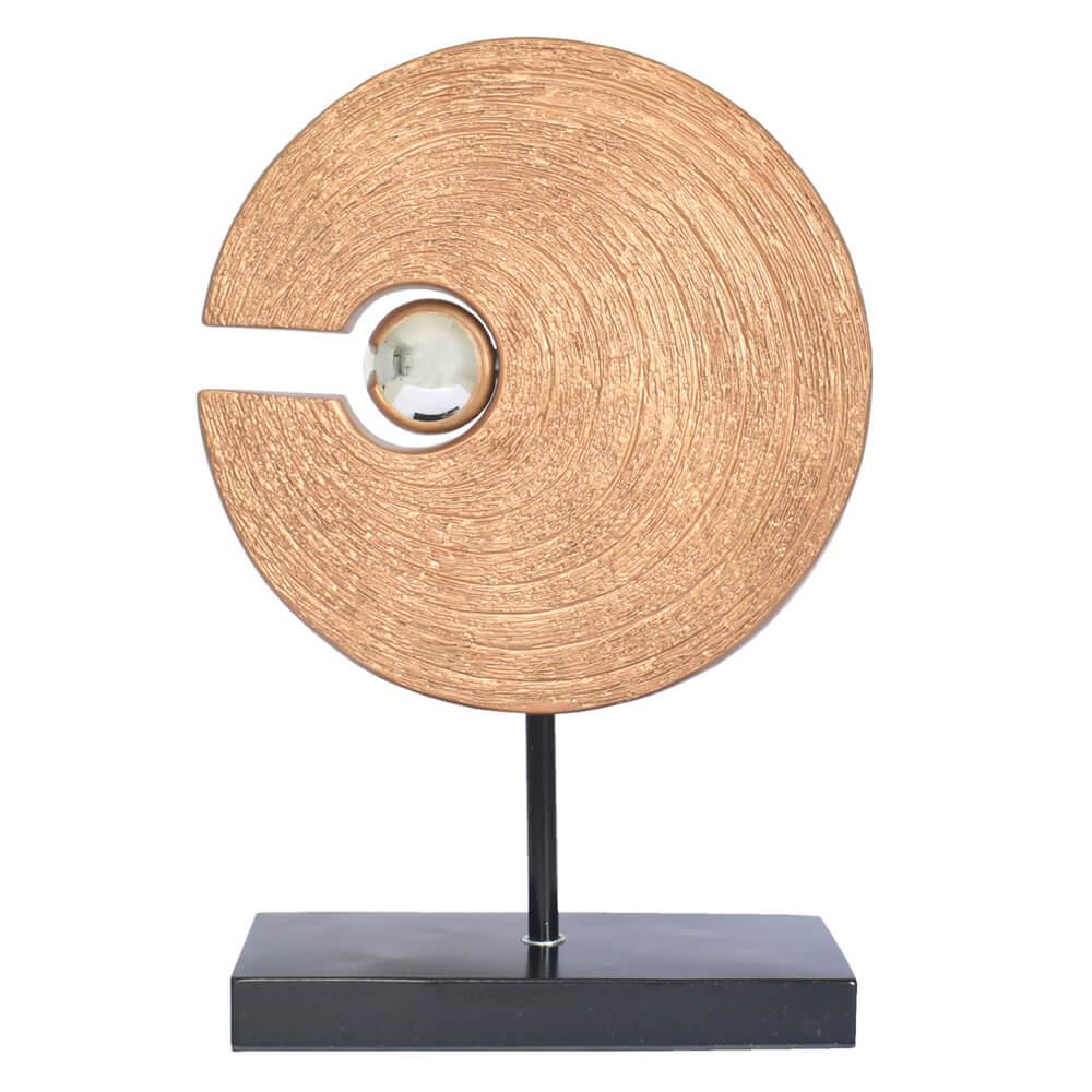 Estatueta Roseta Dourada Advance 41 Cm