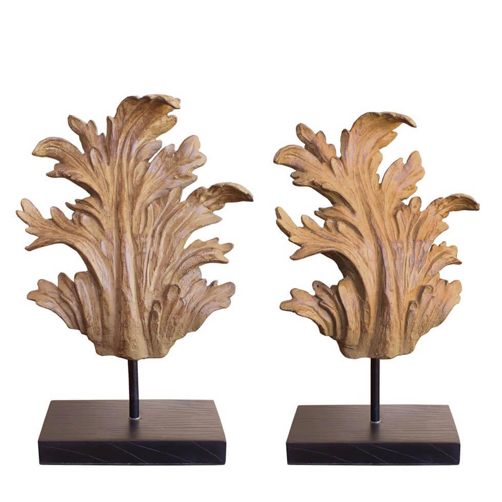 Estatuetas Conjunto Folhas Provençal Leaf G 33 Cm