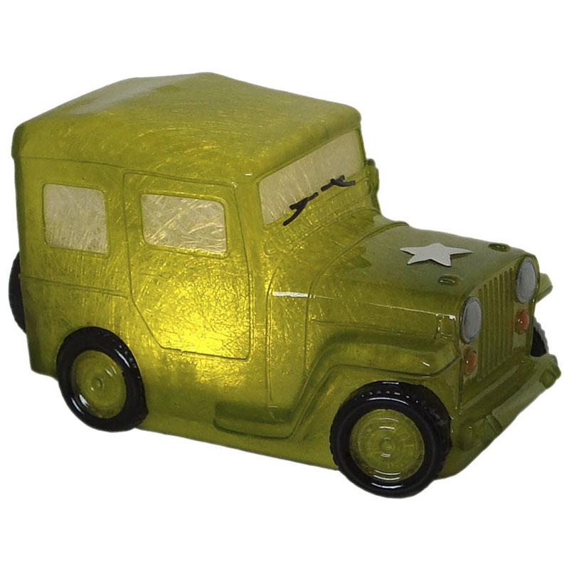 Luminária Infantil Led Jeep Verde 22 Cm