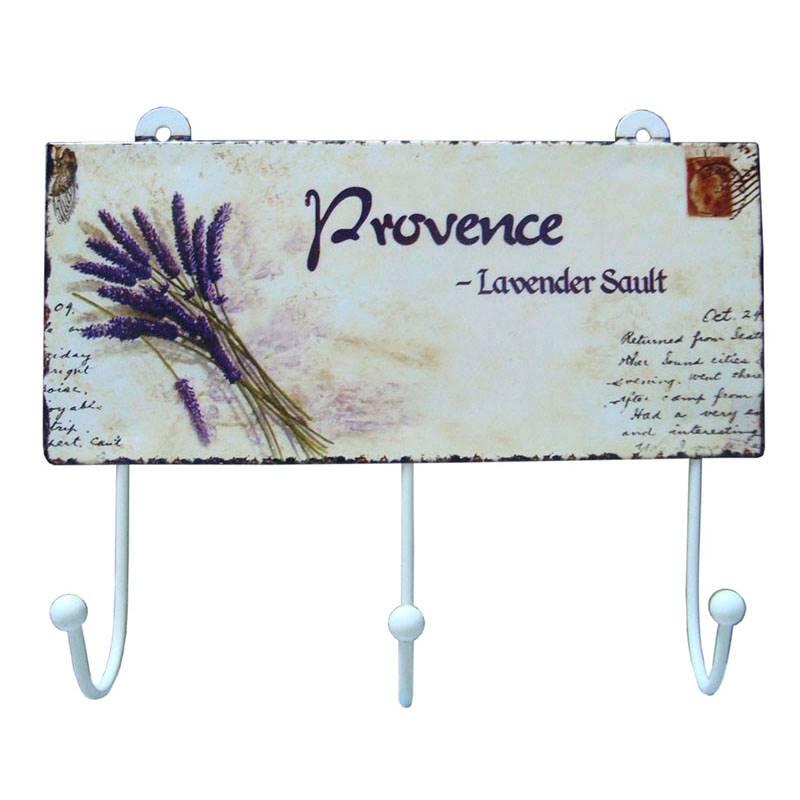 Pendurador Bonheur 3 Ganchos Provence 20 Cm
