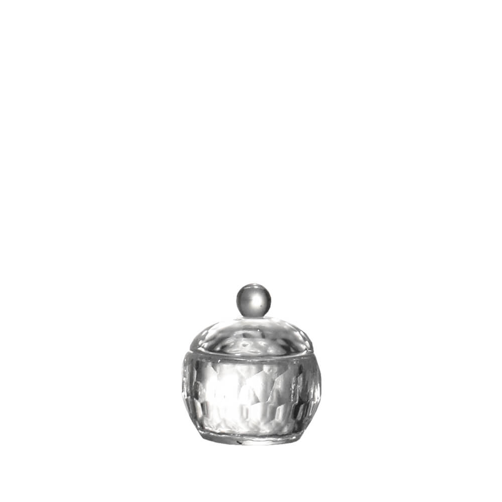 Porta Joias de Cristal Lapidado Sigma P 5,5 Cm