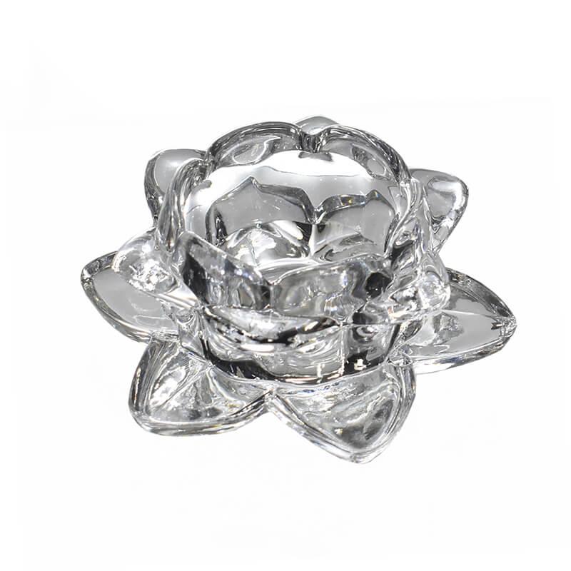 Porta Velas de Cristal Lumen Flower Lux P 12 Cm