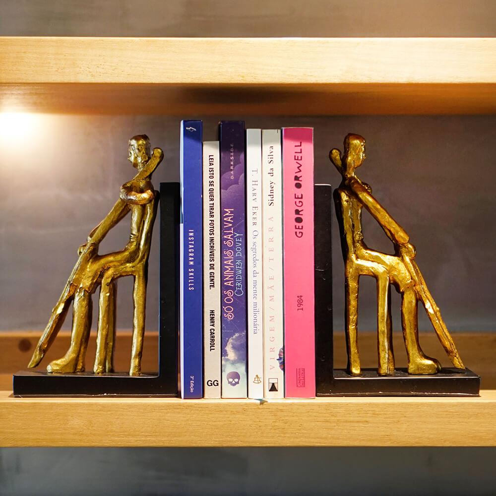 Suporte para Livros Dourado Seating  26 Cm