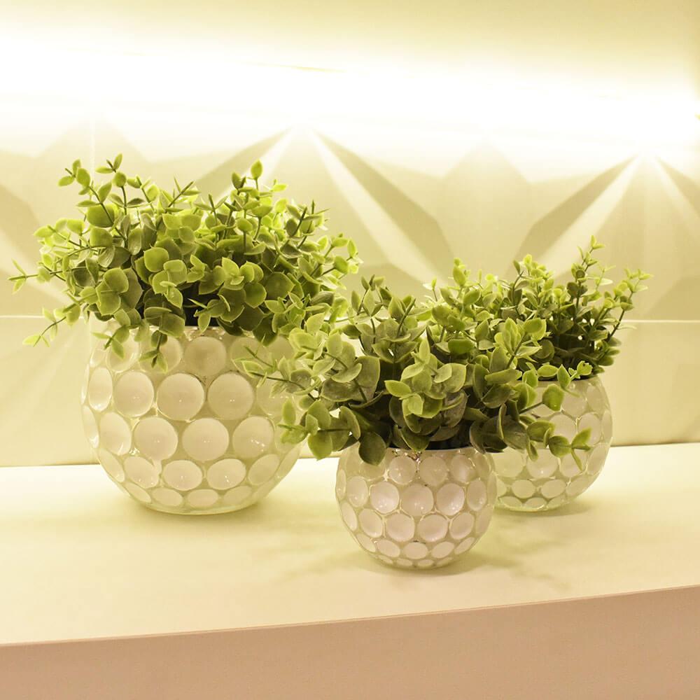 Vasinho Branco Lumen Lux P 6 Cm