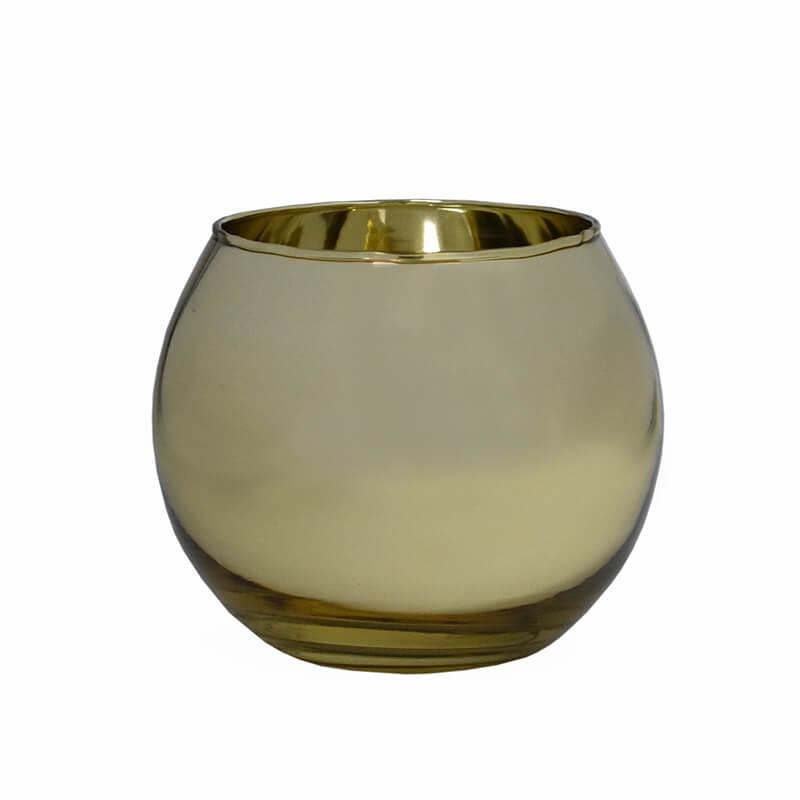Vasinho Dourado Lumen Ball G 10,5 Cm
