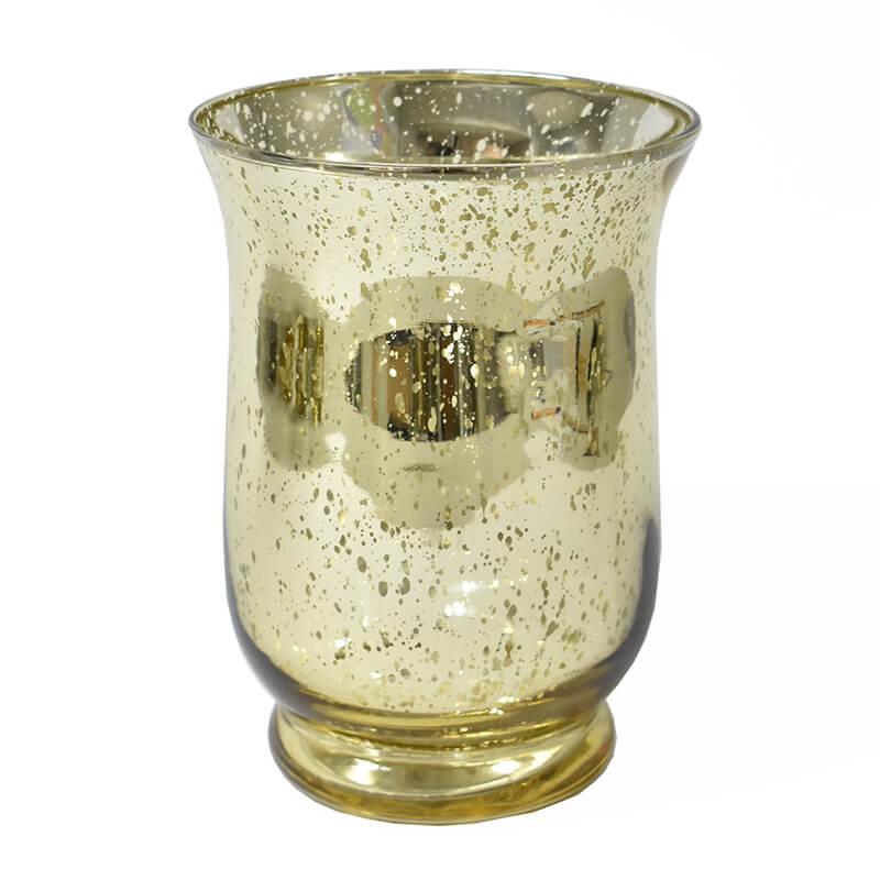Vasinho Dourado Lumen Sino G 15 Cm