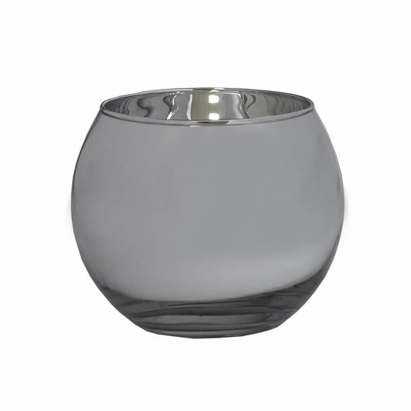 Vasinho Prata Lumen Ball G 10,5 Cm