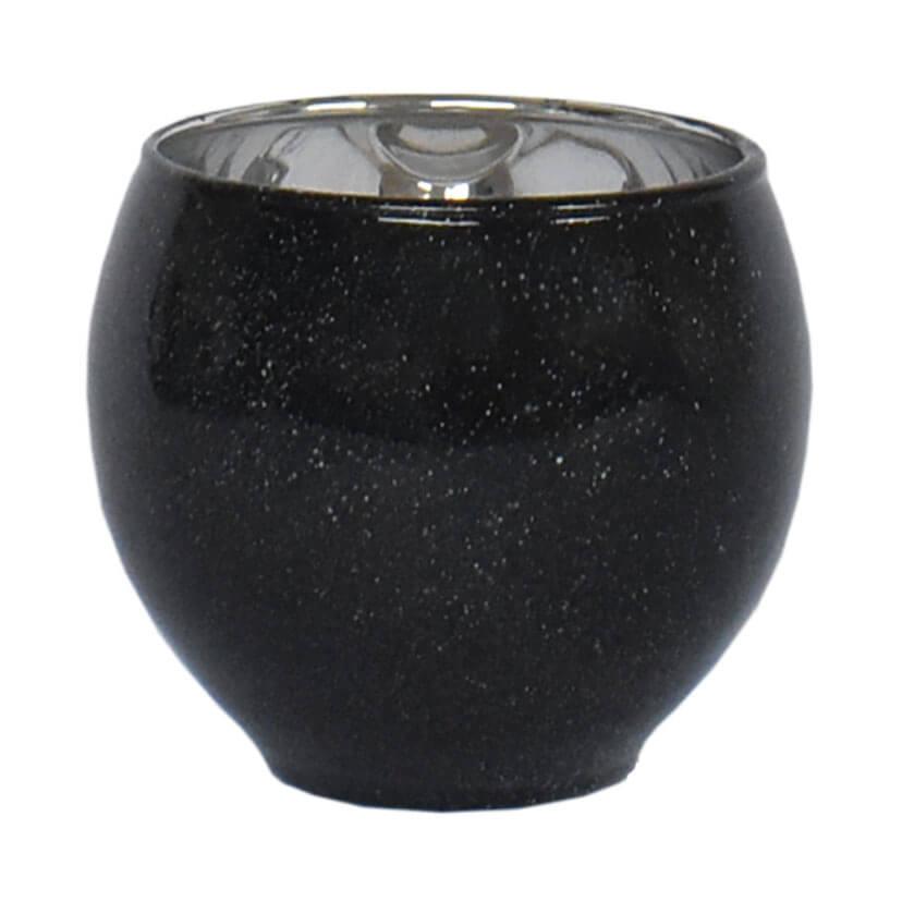 Vasinho Preto Lumen Ball M 8 Cm