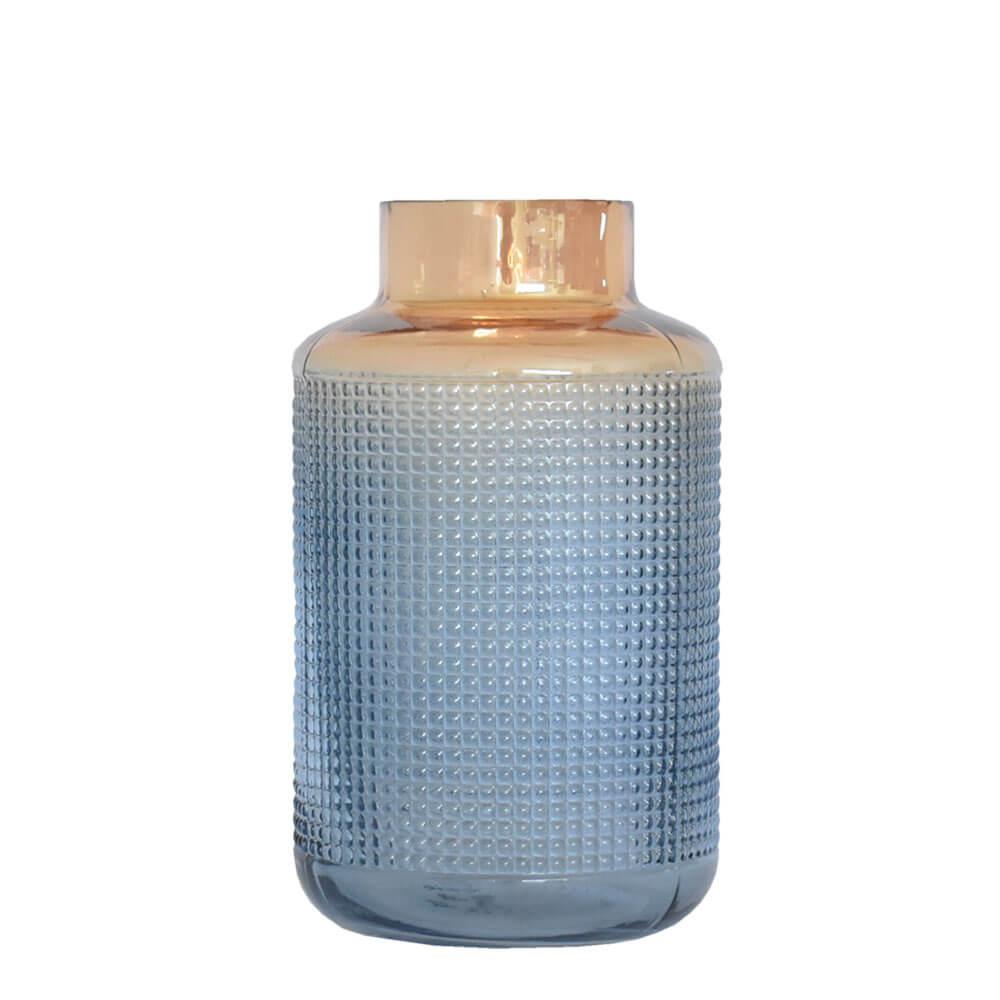 Vaso Azul e Laranja Murcia P 25 Cm