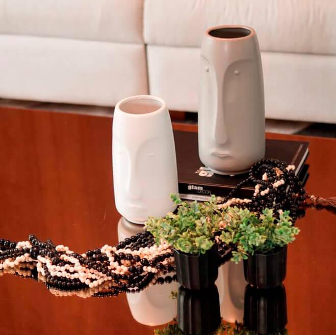 Vaso Branco Face P 28 Cm