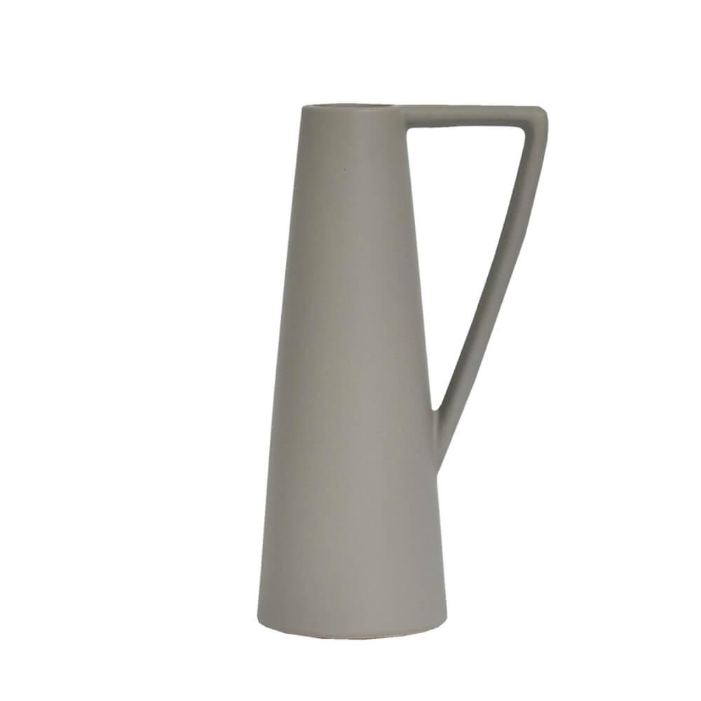 Vaso Cinza Jarret G 25 Cm