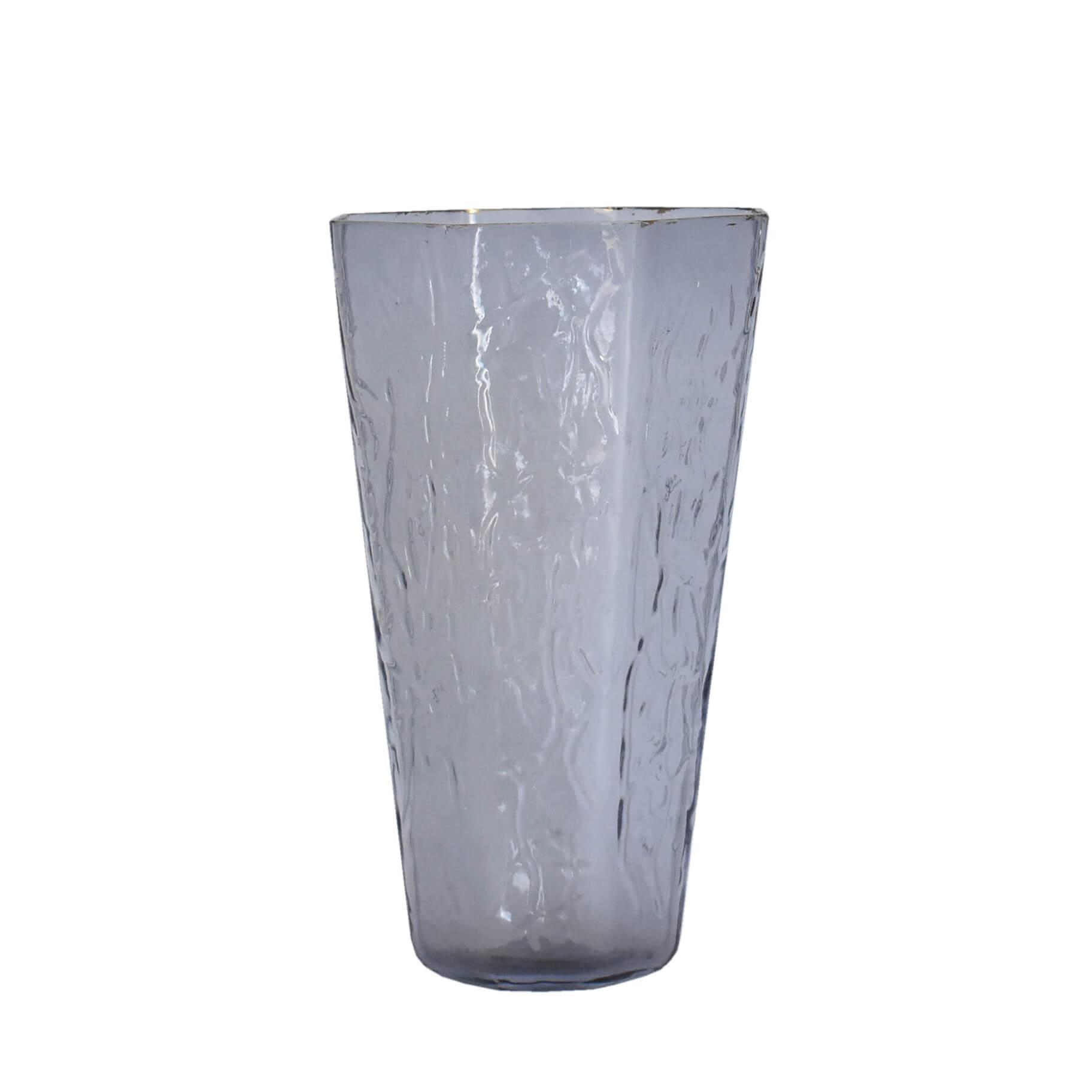 Vaso Cinza Otte G 29 Cm