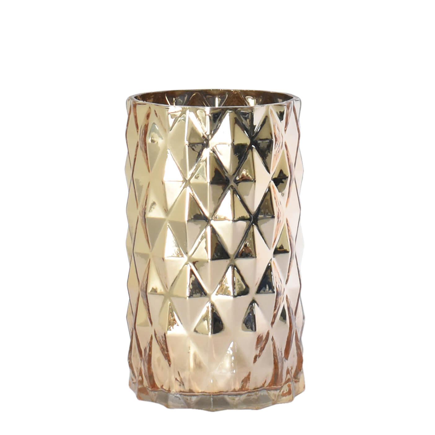 Vaso Dourado Riccordi G 20 Cm