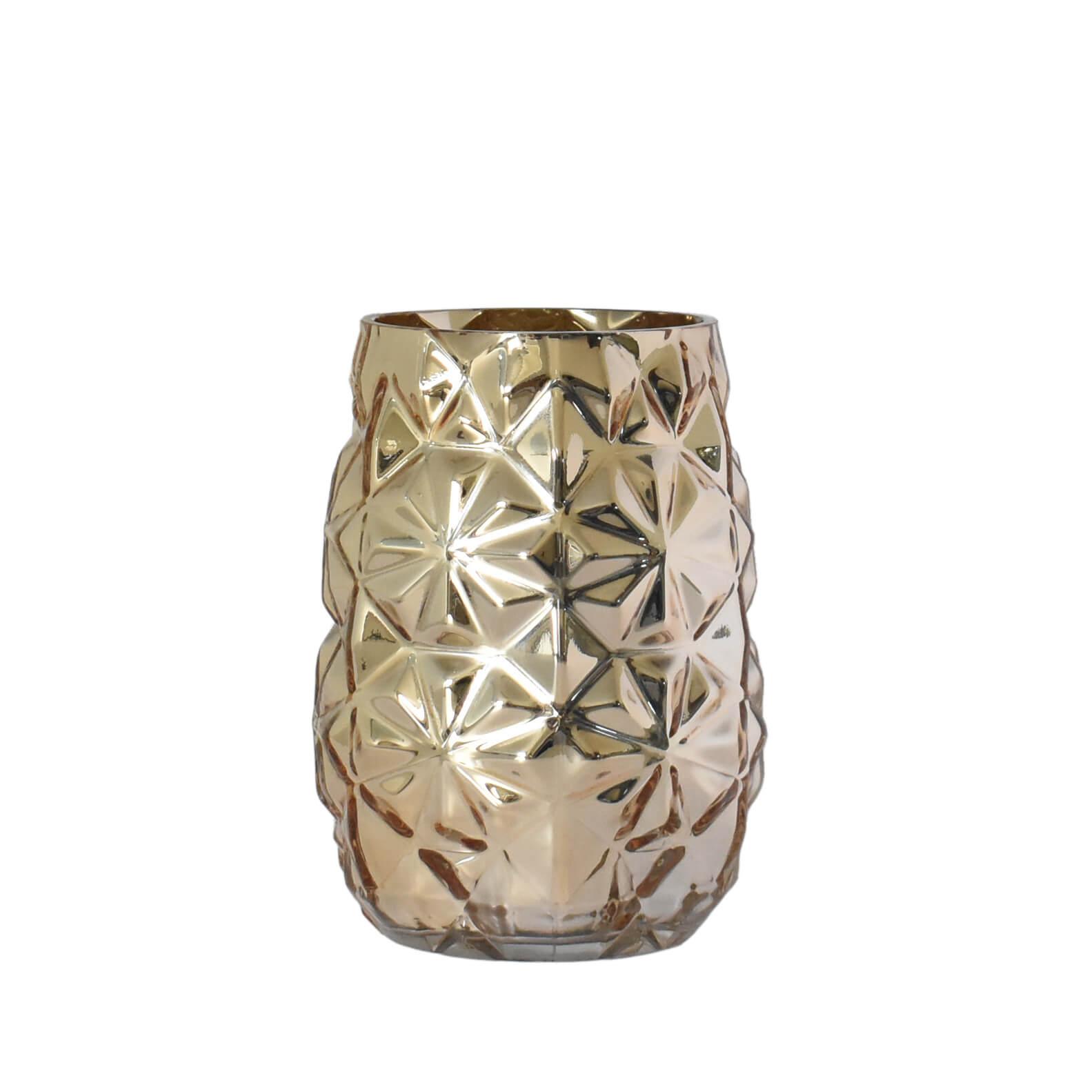 Vaso Dourado Satti G 19 Cm