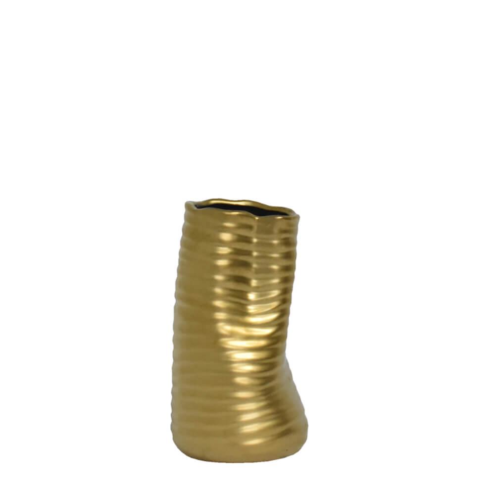 Vaso Dourado Torso P 17 Cm