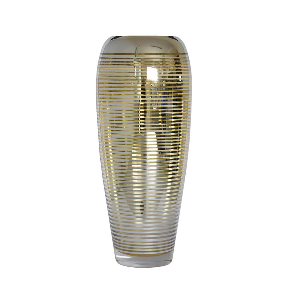 Vaso Prata e Dourado Flipp G 38 Cm