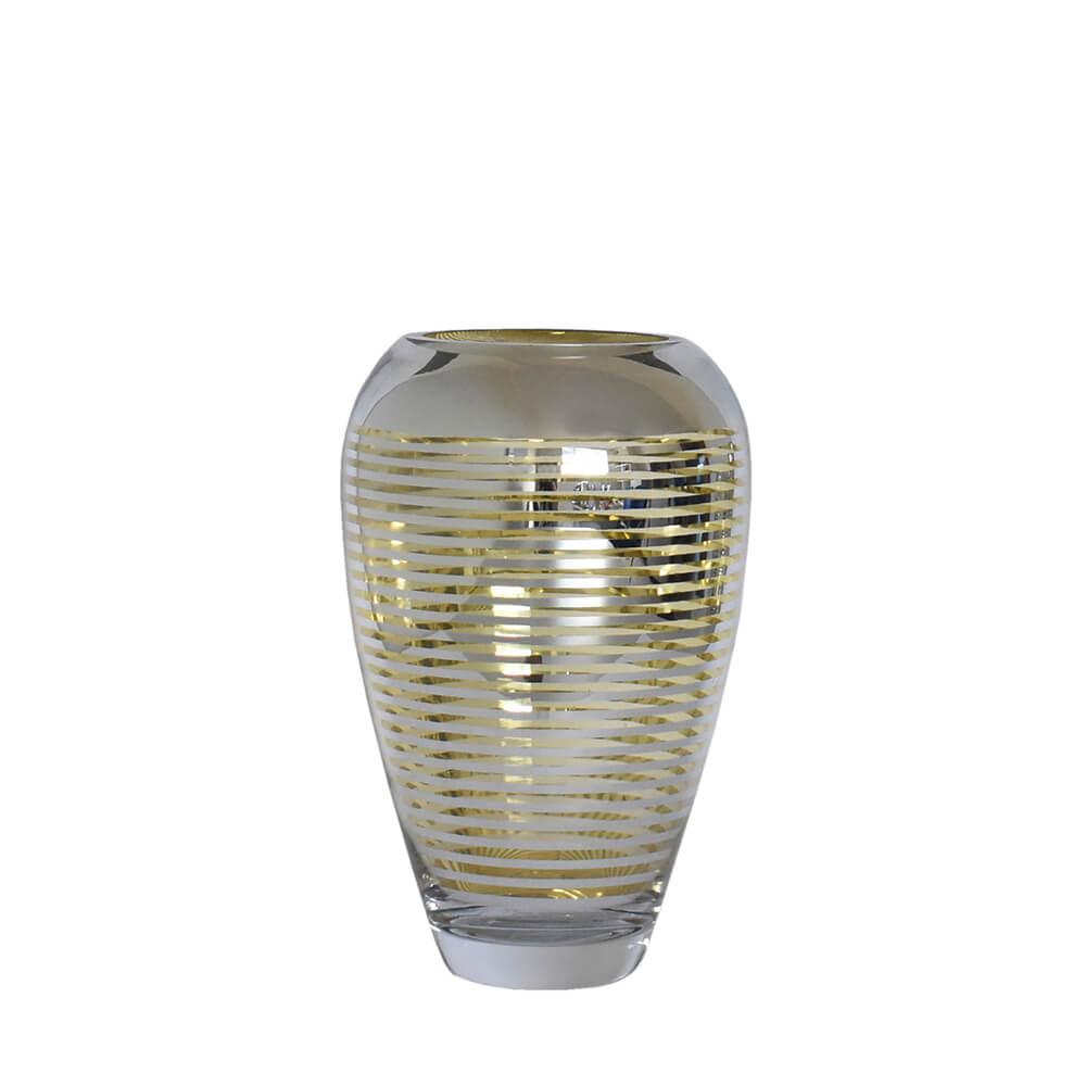 Vaso Prata e Dourado Flipp P 24 Cm