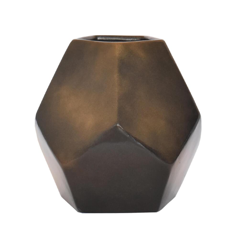 Vaso Preto Block G 23 Cm