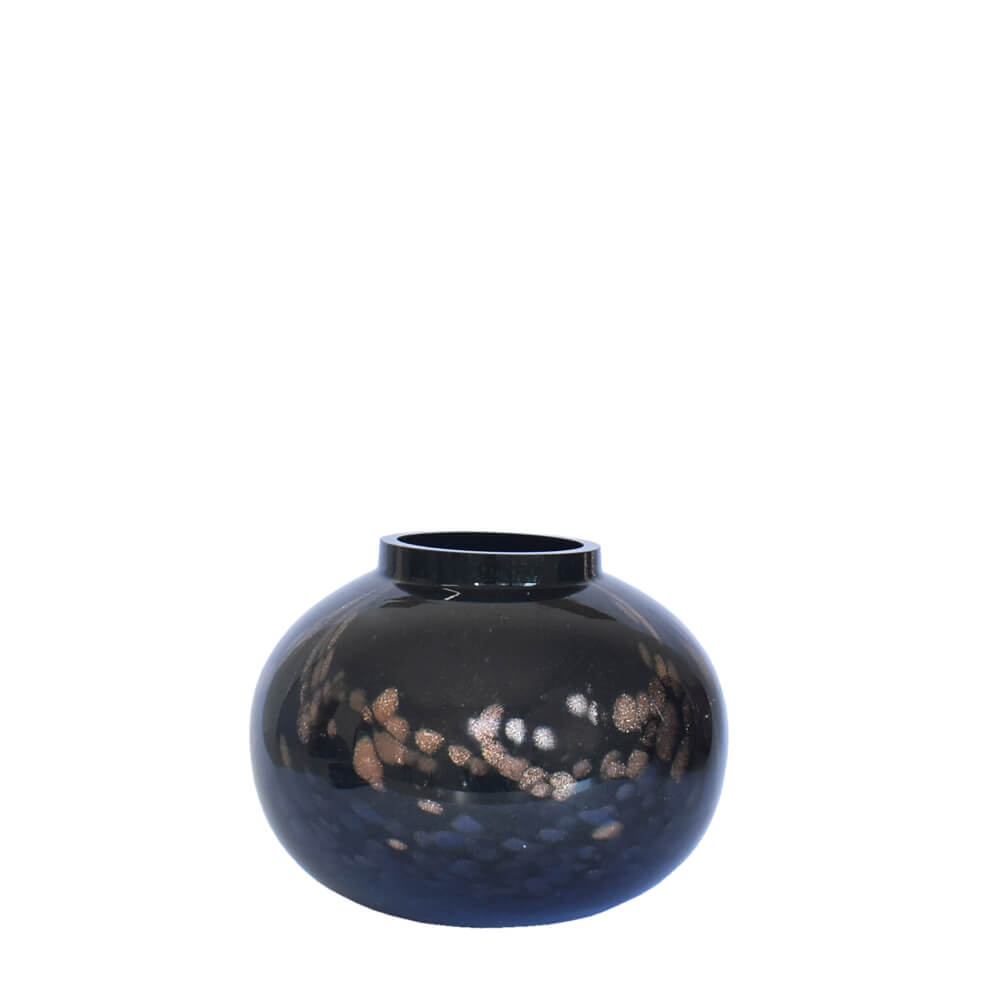 Vaso Preto com Brilhos Nerodor P 16 Cm