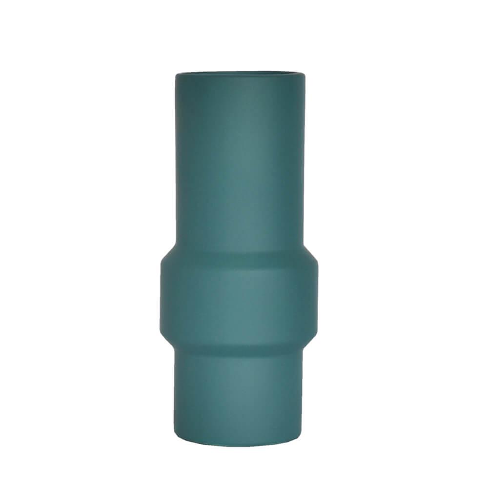 Vaso Verde Petróleo Clay 23 Cm