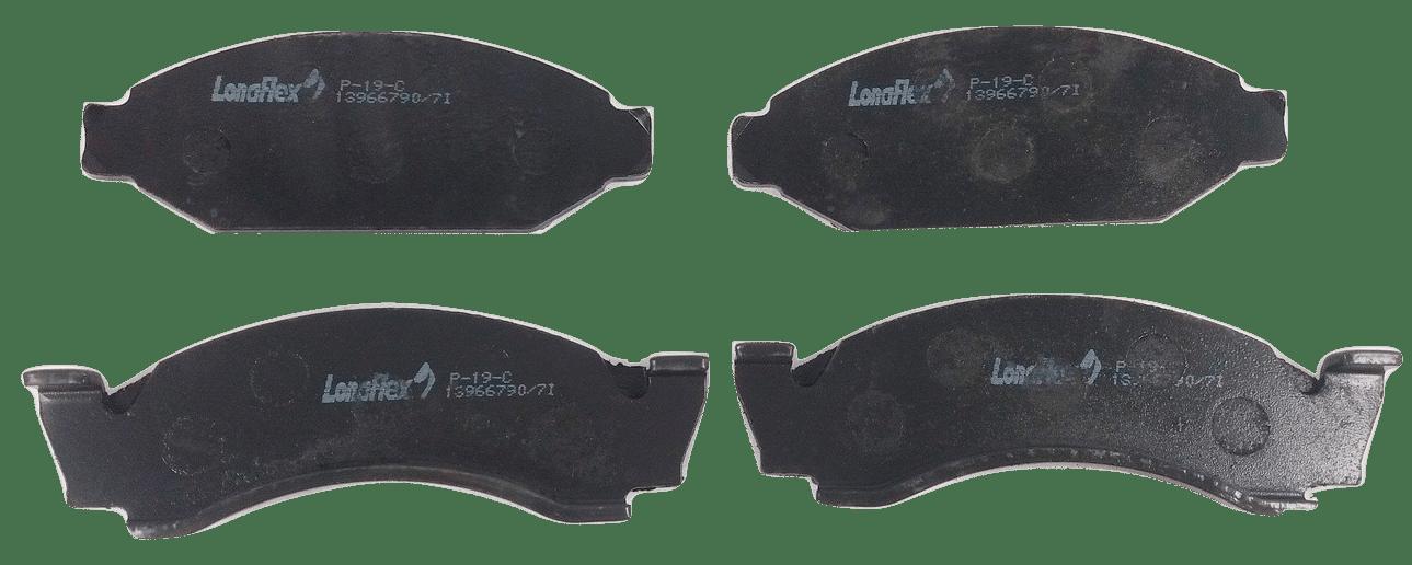 JOGO PASTILHA FREIO DIANT F1000 79/94 GM A10 P19C LONAFLEX