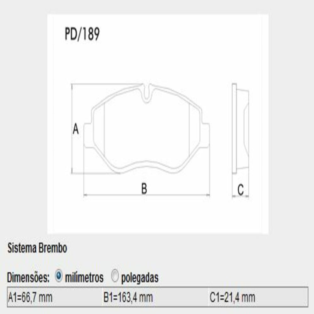 JOGO PASTILHA FREIO DIANT SISTEMA BREMBO DAILY P189 LONAFLEX