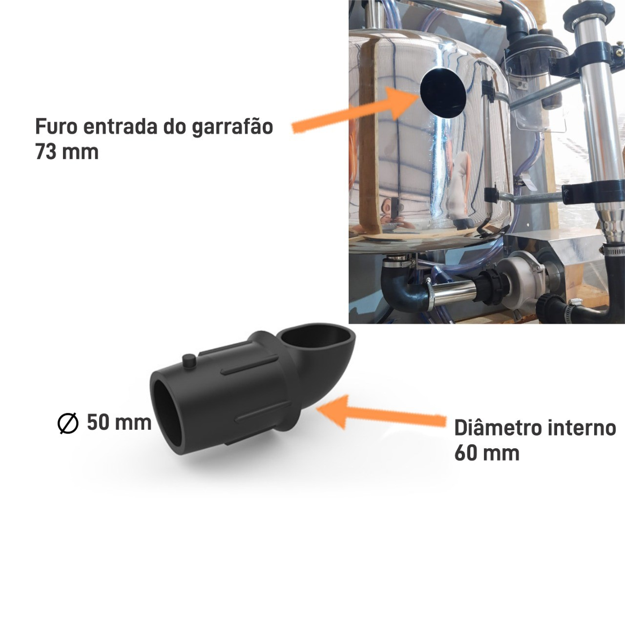 ENTRADA DO LEITE NO GARRAFAO 50 X 60