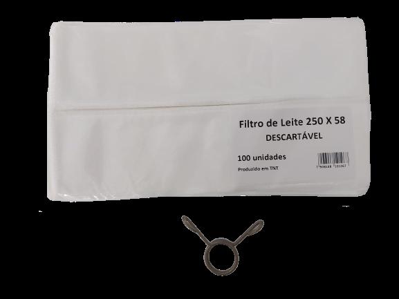 Kit 01 pacote de filtro de leite descartável tamanho 250x58 e uma mola inox do filtro de leite