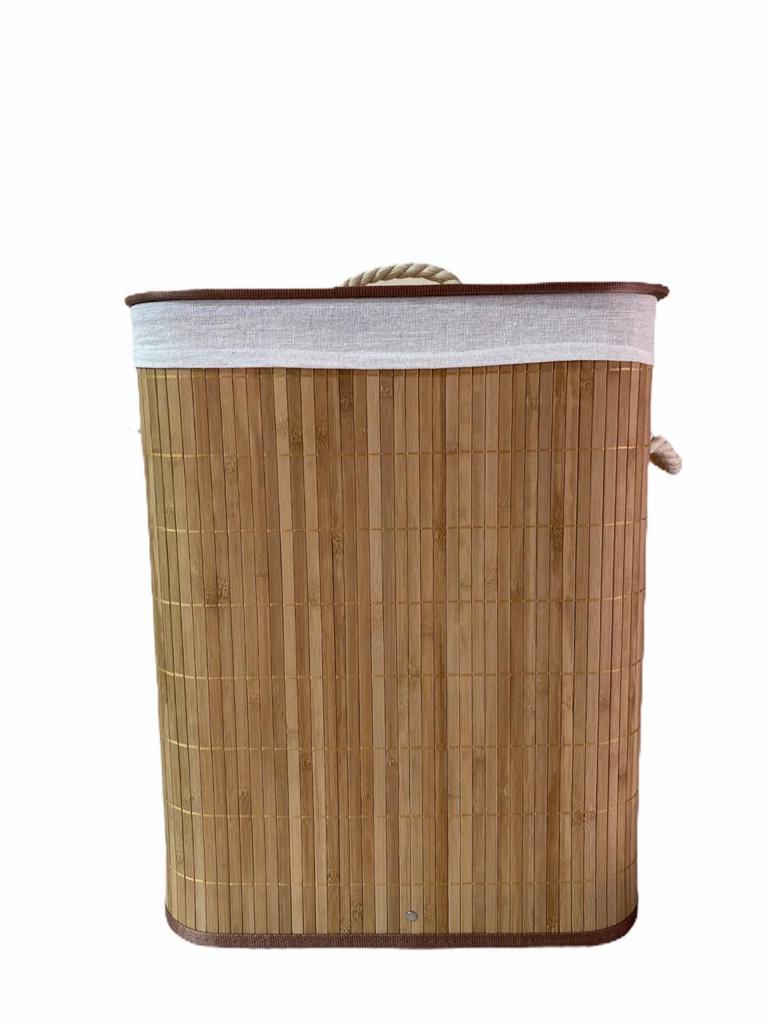Cesto de Bambu com Tampa Retangular 40 X 30 X 50