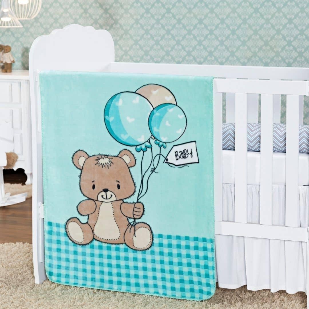 Cobertor Manta Bebê Antialérgico Baby Class Etruria Estampado