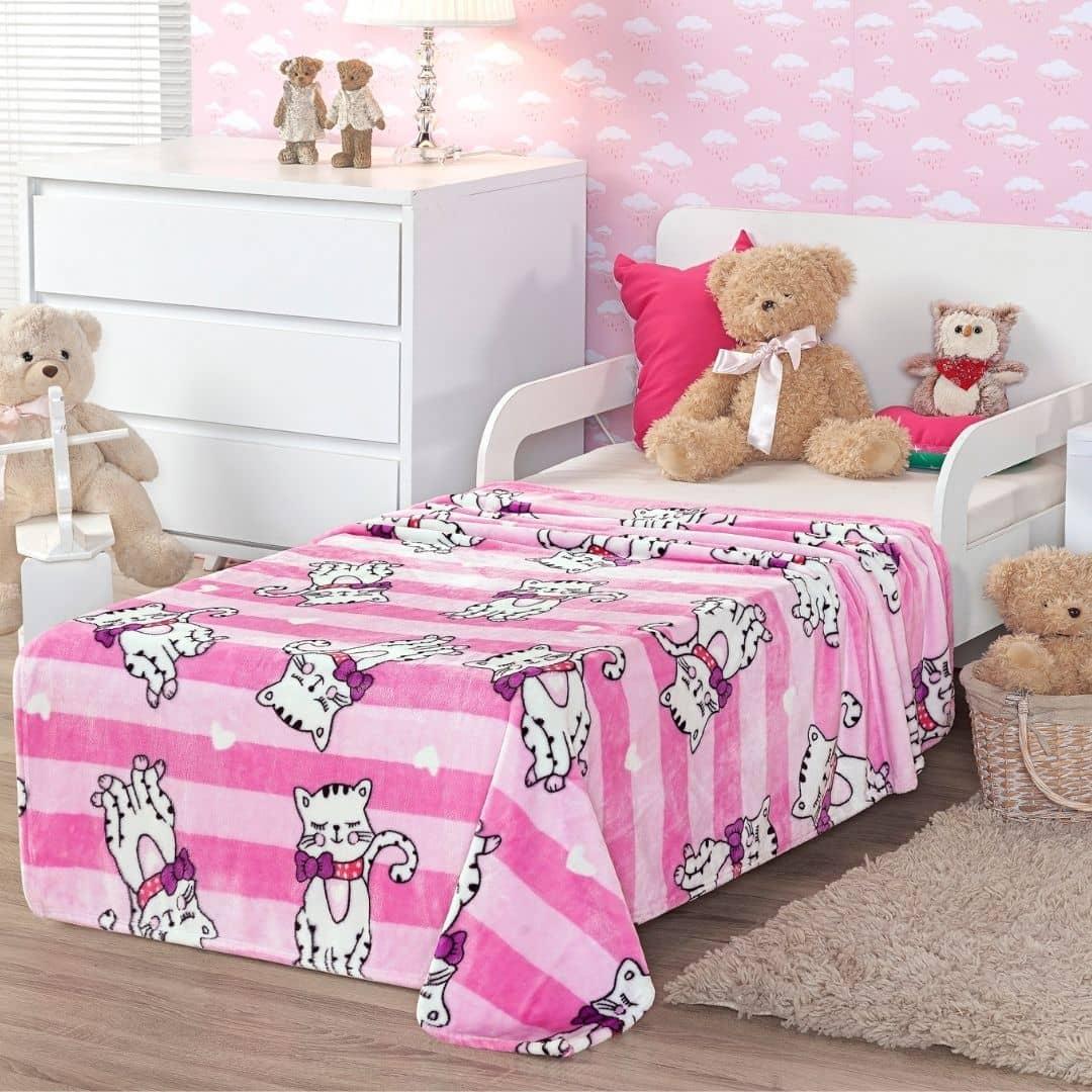 Cobertor Flannel Toque de Seda Kids Etruria