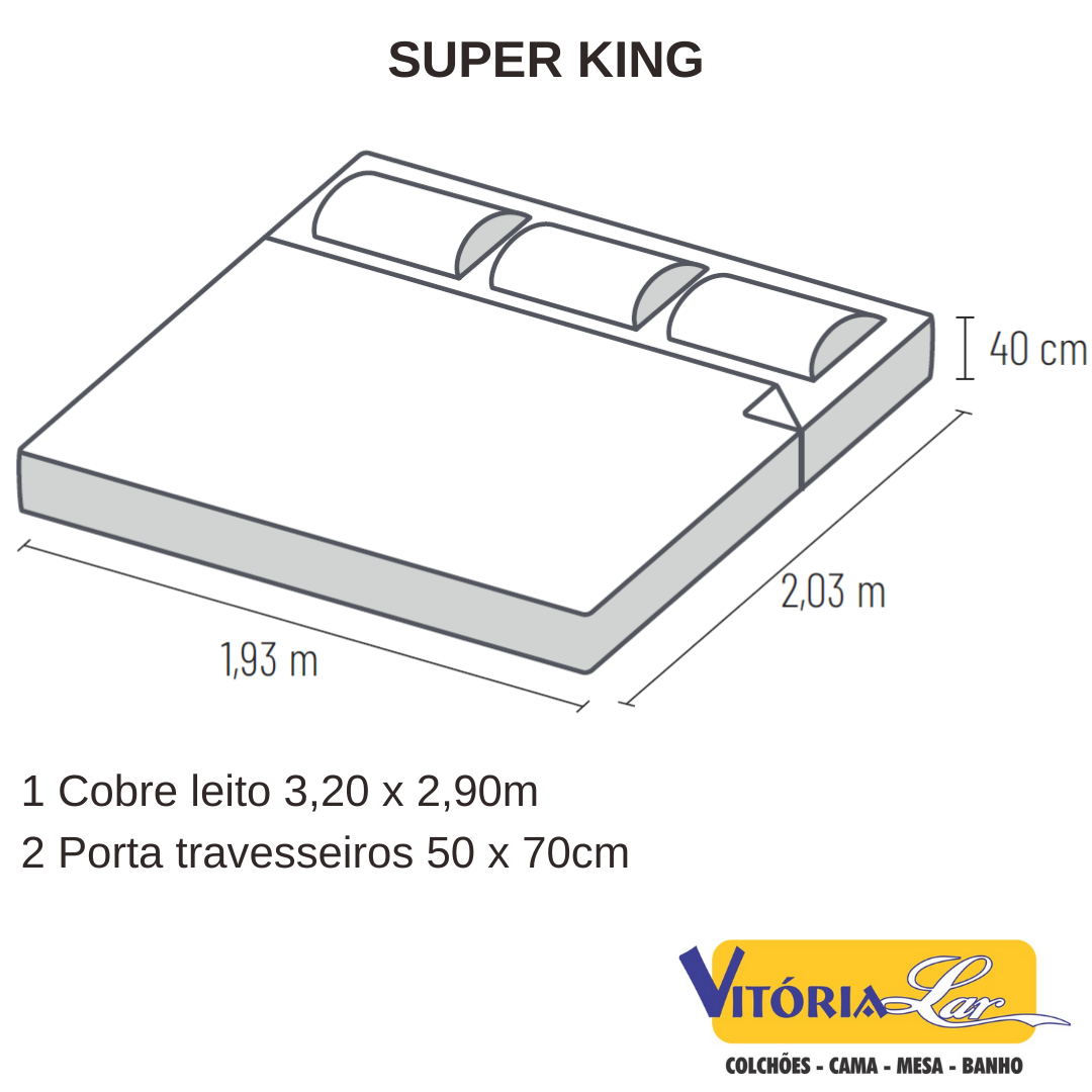 Kit Colcha Cobre Leito Super King Satinée Percal 300 Fios Kacyumara Novo