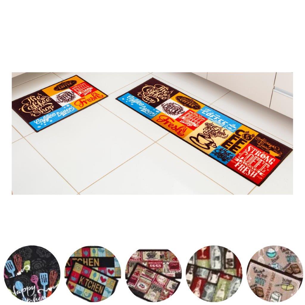Jogo 2 Peças Tapetes para Cozinha e Área Gourmet Bistro Corttex Antiderrapante